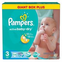 Подгузники Pampers Active Baby-Dry midi (5-9 кг) 126 шт